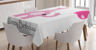 Girls Party Elephant Tablecloth