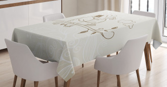 Two Birds Love Tablecloth