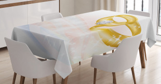 Two Rings Abstract Tablecloth