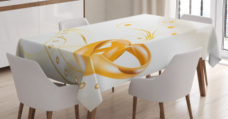 Rings Heart 3D Style Tablecloth