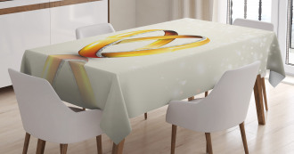 Pair of Rings Marriage Tablecloth