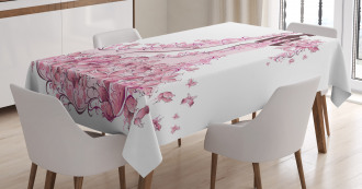 Floral Bridal Gown Tablecloth