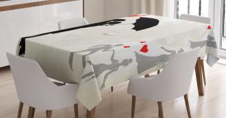 Couple Love Romance Tablecloth