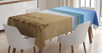 Just Married on Sand Tablecloth