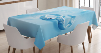 Wedding Rings Pearls Tablecloth