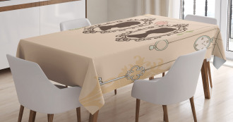 Married Couple Retro Tablecloth