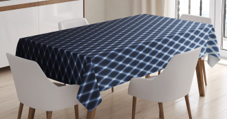 Checkered Halftone Tablecloth