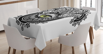 Vivid Swirled Floral Tablecloth