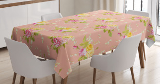 Bridal Roses Old Tablecloth