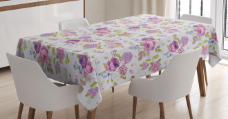 Roses and Violets Tablecloth