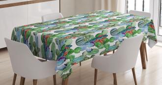 Hawaiian Summer Theme Tablecloth