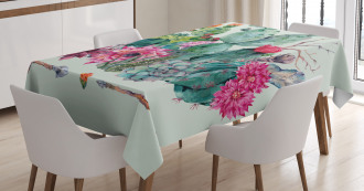 Thorny Boho Blossoms Tablecloth
