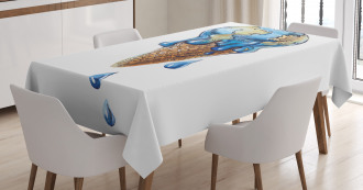 Globe Planet Earth Flavor Tablecloth
