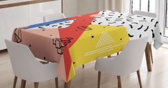 Modern Trippy Figures Tablecloth