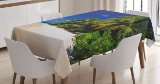 Sandy Coastline Surreal Tablecloth
