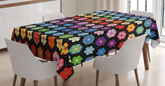 Colorful Daisy Blooms Tablecloth