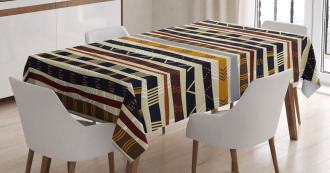 Ethnic African Trippy Tablecloth