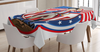 United States Tablecloth Patriot Emblem Printed Table Cover