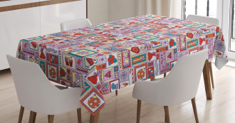 Sweets Candles Citrus Tablecloth