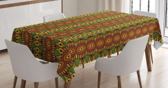 Abstract Tribal Motifs Tablecloth