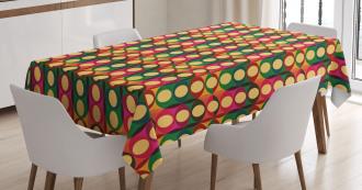 Pop Art Geometric Pastel Tablecloth