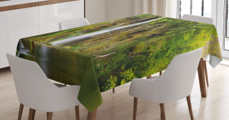 Majestic Waterfall River Tablecloth