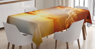 Tranquil Sunset Horizon Tablecloth