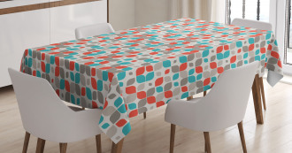 Abstract Mosaic Floral Tablecloth