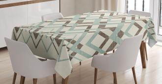 Vintage Zigzag Lines Tablecloth