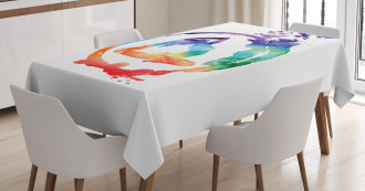 Watercolors Birds Music Tablecloth