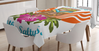 Quote Hibiscus Tablecloth