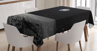 Planet Earth From Moon Tablecloth