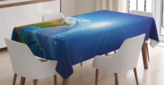 United States in Space Tablecloth