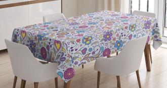 Doodle Botany Garden Tablecloth