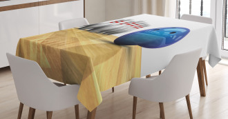 Objects on Floor Tablecloth