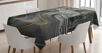 Asphalt Road Tablecloth