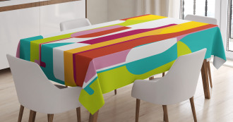 Colorful Abstract Drinks Tablecloth