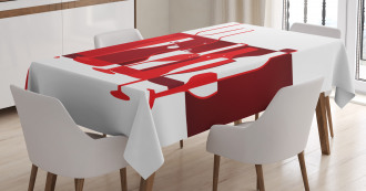 Artistic Modern Abstract Tablecloth