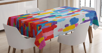 Colorful Abstract Painting Tablecloth