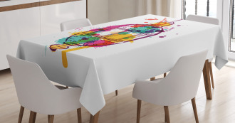 Artistic Color Splashes Tablecloth