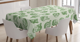 Green and Fresh Food Tablecloth