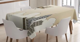 Cartoon Plane Tablecloth