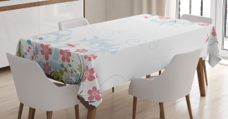 Vivid Spring Leaves Tablecloth