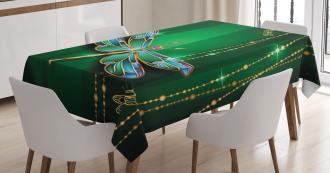 Vivid Gemstone Figure Tablecloth