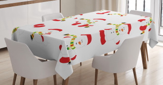 Snowmen with Scarf Tablecloth