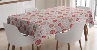 Snowflakes Print Tablecloth