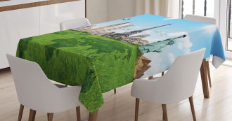 Famous Monuments in World Tablecloth
