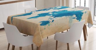 Artistic Vintage Watercolor Tablecloth