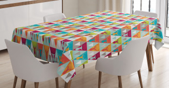 Triangles with Deer Heads Tablecloth