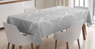 Vintage Damask Swirls Tablecloth